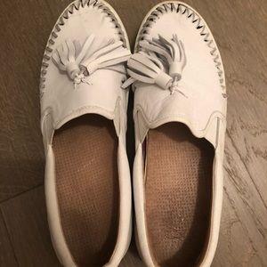 Jslides White Tassel Sneakers